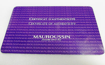 New! MAUBOUSSIN Watch Certificate of Authenticity Certificat D'Authenticite Card