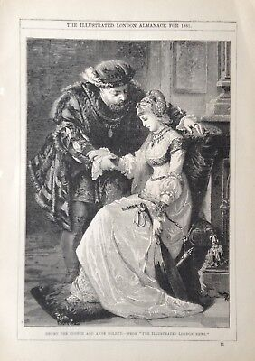 "The Illustrated London Almanack For 1881~""henry The Eighth And Anne Boleyn"""