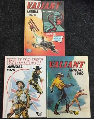 Valiant Annuals 1978, 1979 and 1980 Hardback Books 22/10J UN