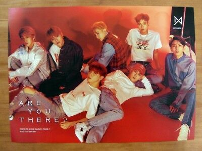 MONSTA X - Take.1 Are You There? (Ver. 4 : IV) [OFFICIAL] POSTER  *NEW*