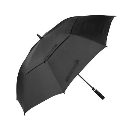 Large Double-canopy Windproof Waterproof Automatic Open Golf Umbrella black UC