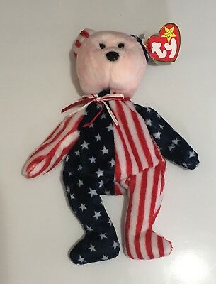 TY BEANIE BABY Beanie Babies *1999 SPANGLE PINK FACE.