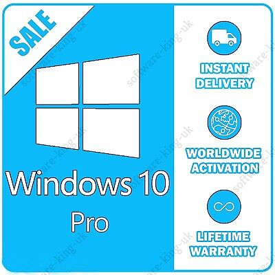 Windows 10 Professional Pro 32 & 64 Bit Activation Code License Key - Win 10 Pro