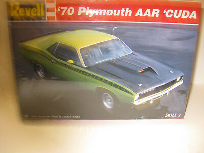 REVELL 1970 PLYMOUTH AAR CUDA 2DR HARDTOP FACTORY/SEALED1/24 scale