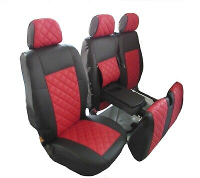 PEUGEOT BOXER,CITROEN JUMPER/RELAY,FIAT2006-2018 RHD RED LEATHER Seat Covers 2+1