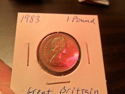 1983 Great Britain- 1 Pound coin- BU