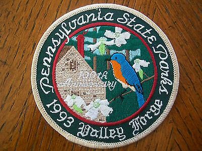 Pa Pennsylvania Game Fish 1993  Valley Forge State Park  Patch 100  Years  Anniv