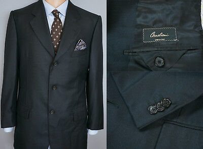 reputable site eee0d c6b8f UOMO CORNELIANI GIACCA Blazer Lana Nero SETA M IT50 USA UK 40 QAA252