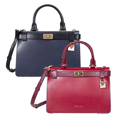 Michael Kors Tatiana Small Leather Satchel -Choose color