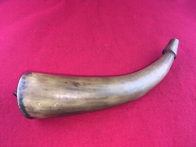 """Early Lobed Powder Horn, Large early style 10.5"""" Long"""