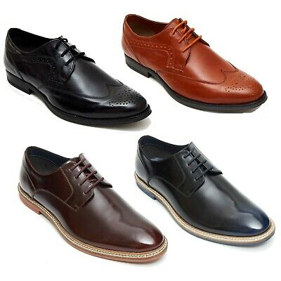 Lucini Men's Smart Casual Wedding Leather Lace Up Brogue Shoes UK Sizes 6-12