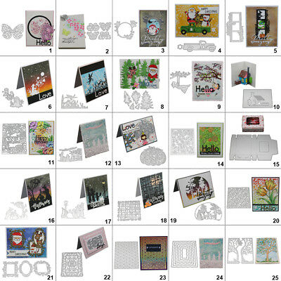 Winter Frame DIY Cutting Dies Metal Stencil Scrapbooking Album Paper Card Art