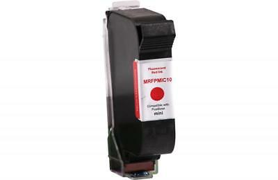 Clover Remanufactured Postage Meter Fluorescent Red Ink Cartridge MRFPMIC10