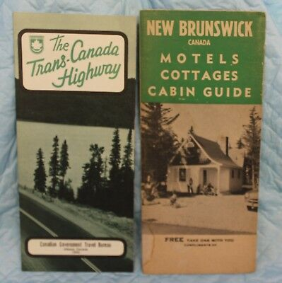 1962 Pamphlet Trans-Canada Highway-1954 New Brunswick Motel Cottages Cabin Guide