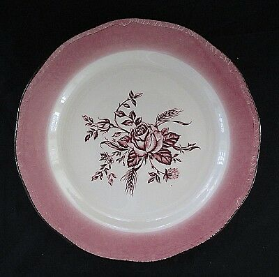 Wood & Sons COLONIAL ROSE Pink Accent Dinner Plate