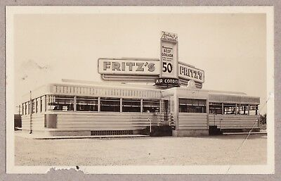 Fritz's Diner - Great New Jersey Roadside Diner - Real Photo