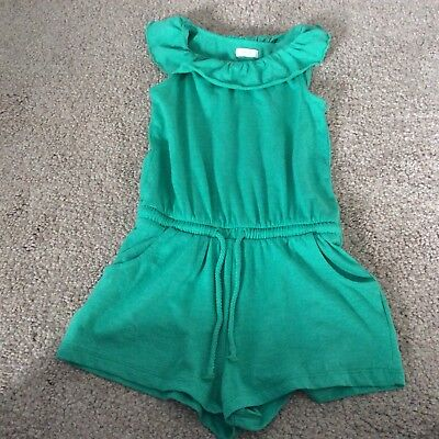 Girls green Next Off-The-Shoulder Short Playsuit - Age 3 - 4 Years