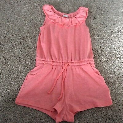 Girls pink Next Off-The-Shoulder Short Playsuit - Age 3 - 4 Years