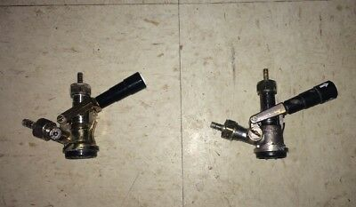 Pair of American Sanke Style D System keg coupler tap Connectors With Hose Barbs