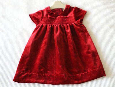 Next Signature Baby Girls Red Velvet Dress Age 12-18 Months BNWT Tag £25