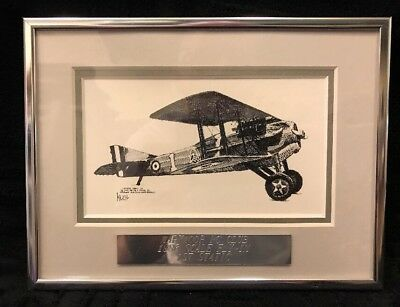 "Joe Milich French Spad Print • 1986 RC Club Award • 8"" X 6"" Frame"