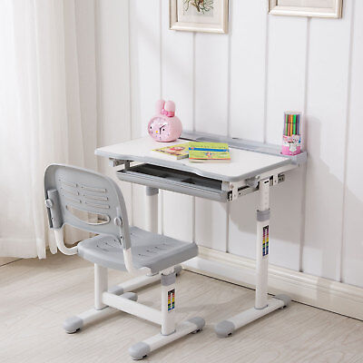 Prime Kids Child Study Desk Chair Set Tilt Table With Led Lamp Gmtry Best Dining Table And Chair Ideas Images Gmtryco