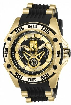 New Womens Invicta 27030 MARVEL BLACK PANTHER Rubber Strap Watch