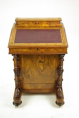 Davenport Desk, Antique Desk, Writing Table, Victorian Desk, Scotland 1880 B1253
