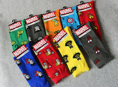 Marvel Hero General Socks Iron Man Captain America Knee-High Warm Stitching patt