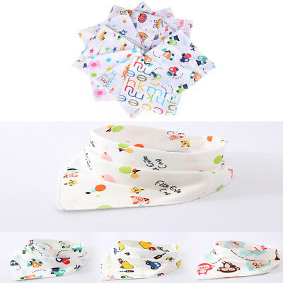Newborn Baby Lovely Cotton Bibs Baby Saliva Towel Bandana Dribble Triangle Sz