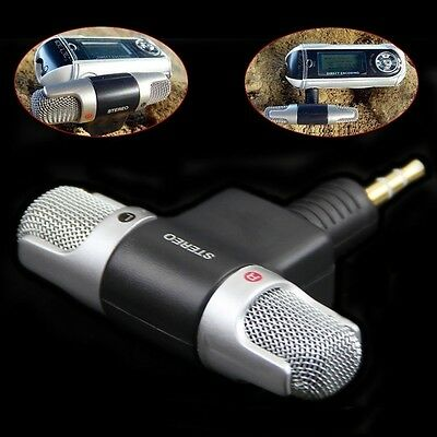 Mini Stereo Microphone Audio Sound Recorder with 3.5mm Jack for Smart Phone B0
