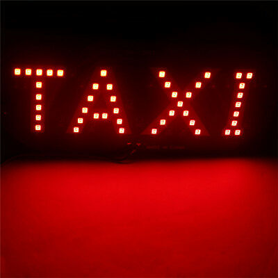 Taxi Cab Windscreen Windshield Sign Red LED Taxi Light Lamp Bulb Sz