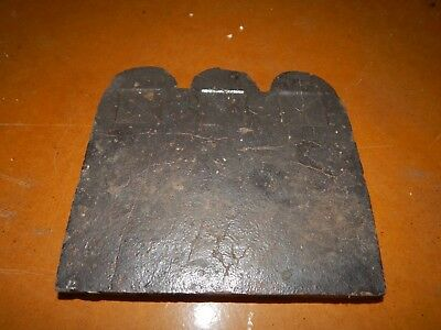19th Century Garden Edging Terra Cotta Georgia Clay Slave Tile 3 Squares Pattern