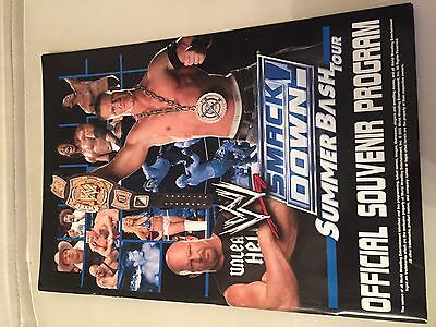 WWE Smackdown Summer Bash Tour Program Programmheft WWE Wrestling
