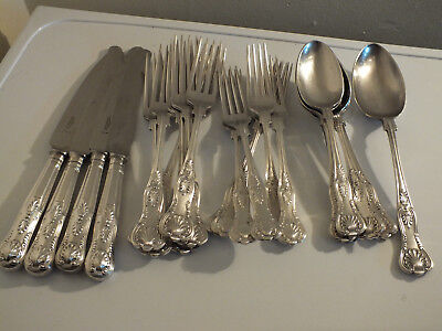 Collection of Silver Plate Cutlery - Kings Pattern - Cooper Bros. & Sons A1