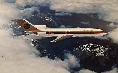 Continental Airlines Boeing 727-200 Postcard Vintage Aircraft P914
