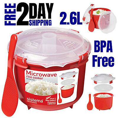 Microwavable Rice Steaming Pot Cookware Mini Portable Cooker Food Steamer Bowl