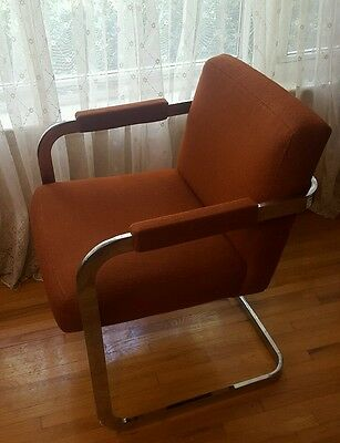 Mid Century Milo Baughman Thayer Coggin Cantilever Dining Chair Chrome retro
