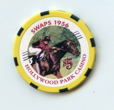 5.00 Chip from the Hollywood Park Casino Inglewood California Shoemaker