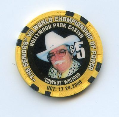 5.00 Chip from the Hollywood Park Casino Inglewood California Wolford