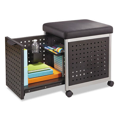 "Mobile File, w/Cushioned Seat, 18""x18""x20"", Black SAF5380BL"