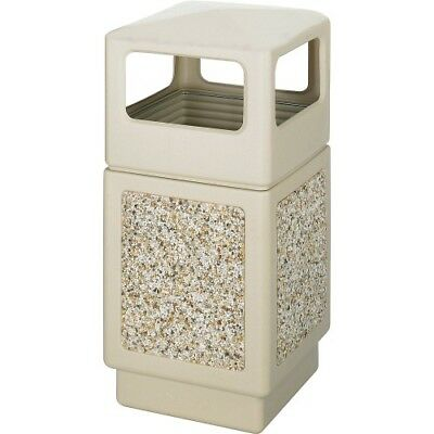 "Side Open Receptacle,38 Gal,18-1/4""x18-1/4""x39-1/4"", TN SAF9472TN"