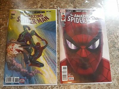 AMAZING SPIDER-MAN #796, 798 NM 1st print, Sold Out Red Goblin Carnage Alex Ross
