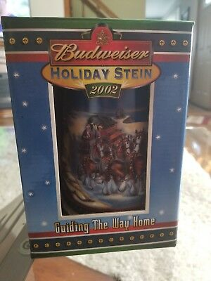 "Anheuser Busch Budweiser ""Guiding the Way Home"" 2002 Holiday Stein"