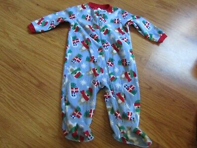 Lot of 5 Baby Girl SIZE 3-6 MONTHS 3 LONG SLEEVE SLEEPERS, AND 2 CHRISTMAS (Q)