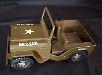Tonka Military Jeep, Vintage Toy from the 1960's, Metal Jeep
