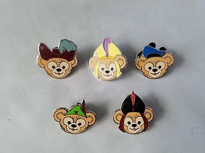 Disney Official Trading Pins Complete Set 5 Bears Hats Hidden Mickey