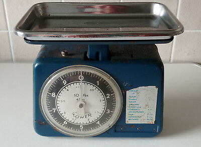 Vintage Retro TOWER Kitchen Scales Blue Made in W.Germany