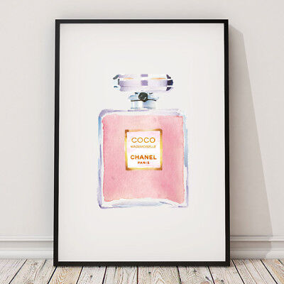 CoCo Chanel Bottle Pink Home Decor Print Living Room Wall - BUY 2 GET 1 FREE!