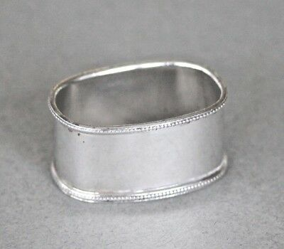Vintage dutch sterling silver 925 oval small napkin ring